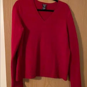 Red wool neck sweater Gap size XL